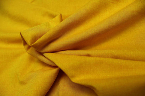 Saffron Plain Weave Plain Colour Kanchi Fabric