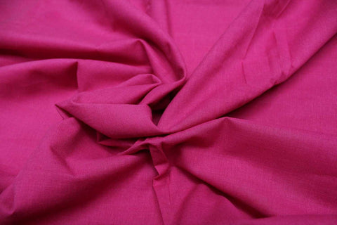 Hot Pink Plain Weave Plain Colour Kanchi Fabric
