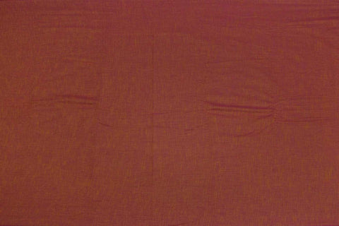 Dark Rust Plain Weave Plain Colour Kanchi Fabric