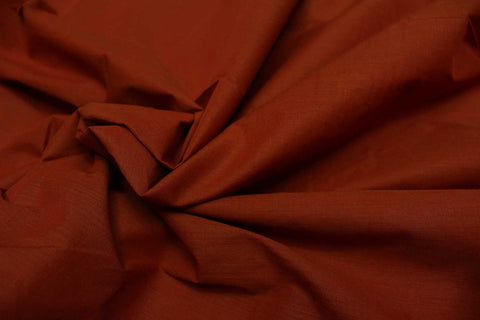 Cherry Red Plain Weave Plain Colour Kanchi Fabric