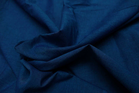 Cornflower Blue Plain Weave Plain Colour Kanchi Fabric