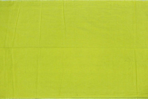 Green Yellow Plain Weave Plain Colour Kanchi Fabric