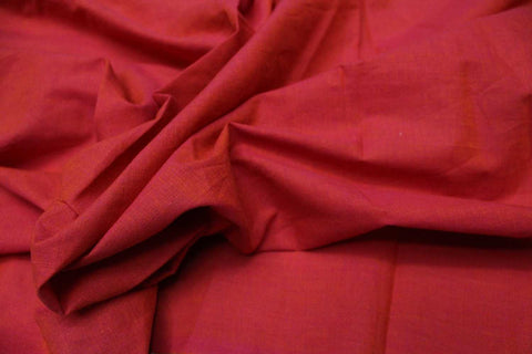 Valentine Red Plain Weave Plain Colour Kanchi Fabric