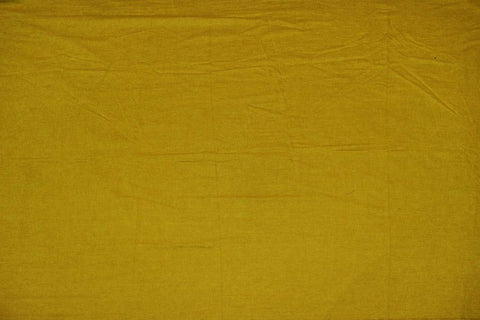 Orange Gold Plain Weave Plain Colour Kanchi Fabric