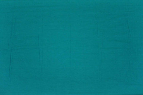 Turquoise Plain Weave Plain Colour Kanchi Fabric