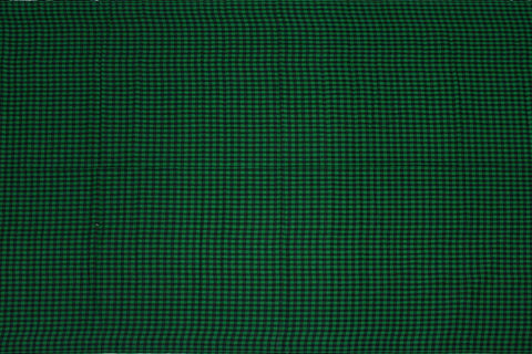 Forest Green Checks Weave Gingham Checks Kanchi Fabric