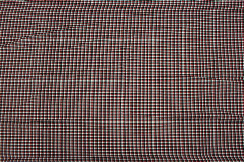 Red Checks Weave Gingham Checks Kanchi Fabric