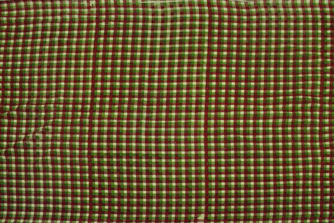 Oak Brown Checks Weave Gingham Checks Kanchi Fabric