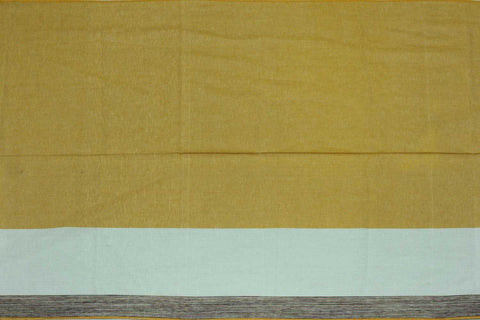 Citrus Plain Weave Plain with One Side Border Mangalagiri Fabric