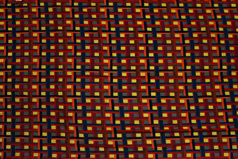Dark Rust Dobby Weave Premium Checks Jaipur Fabric