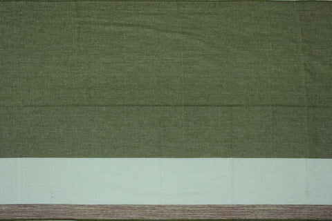 Camouflage Green Plain Weave One Side Border Negamam Fabric