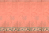 Dark Salmon Chanderi Patchwork Floral Border, Pallu & Body Heads Patch Saree