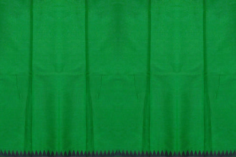 Parrot Green Chanderi Mirror Work Pallu & Bottom Mirror Work Saree