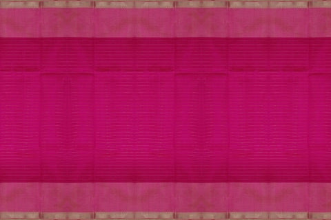 Bean Red Mangalagiri  Plain Weave Silver zari checks nizam border Saree