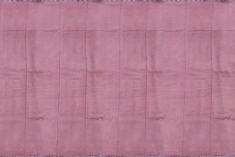 Light Pink Chennuri Batik Design Border, Plain Body & Pallu Saree