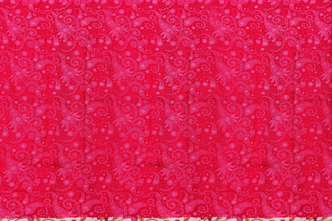 Blossom Pink Chennuri Batik Border Patch & Plain Body, Pallu Saree