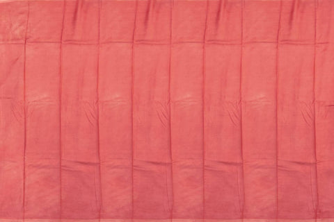 Light Coral Chennuri Batik Plain Body, Pallu Design Saree