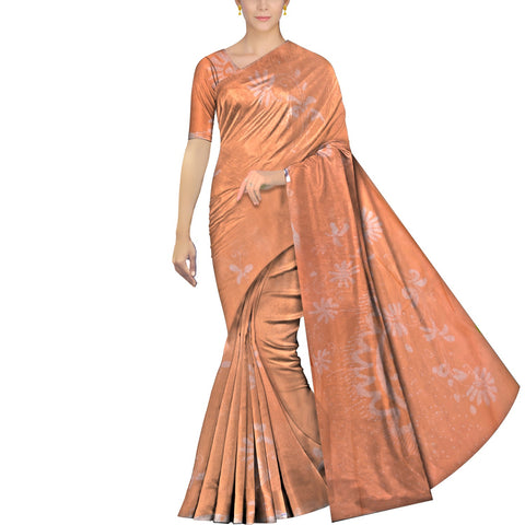 Light Brown Chennuri Batik Body Allover Floral Branch Saree