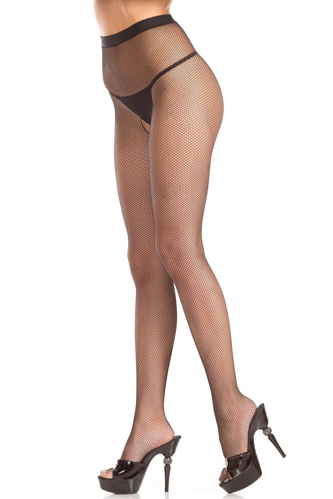 BW783 Diamond Backseam Fishnet Pantyhose