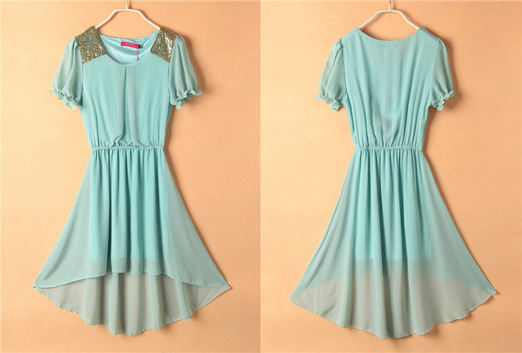 Asymmetrical Chiffon dresses,plus sizes up to 4XL