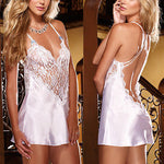 Ladies Lingerie Nightwear Sexy Low Back Chemise Robes Nightdress Nightie-lingerie-Gift Box Planet-blue-S-Gift Box Planet