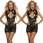 Hot Sexy Women Backless Black Babydoll Lingerie Lace Underwear Sleepwear Dress-lingerie-Gift Box Planet-Black-S-Gift Box Planet