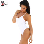 2018 Vintage White Bandage Women Bathing Suit