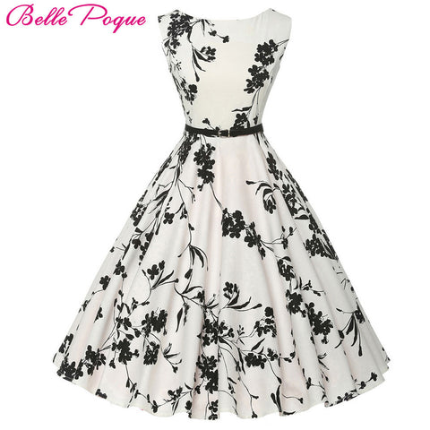 2018 plus size clothing Audrey Floral Vintage Rockabilly Dresses