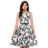 2017 plus size clothing Audrey Floral Vintage Rockabilly Dresses