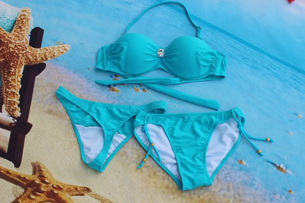 Swimsuit Women New Arrival~~Sexy Bikini set, top+t-string thong+bottom