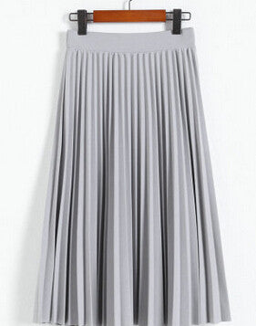 All-match chiffon waist fold slim skirt