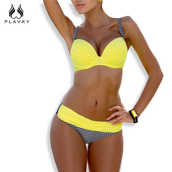 2019 Female Sexy Bandeau Halter Swimsuit Bikini
