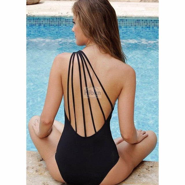 New high cut sexy monokini bandage swimwear