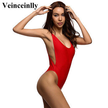 Deep V One piece Backless Swimwear Monokini