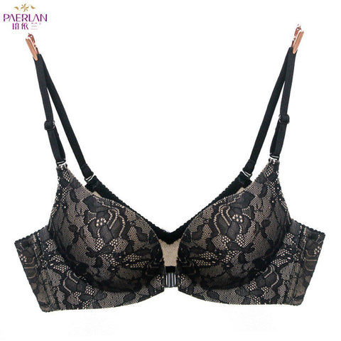 Wireless front button seamless push up female bra-lingerie-Gift Box Planet-black-70B-Gift Box Planet
