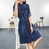 Fashion Loose Casual Denim Dress