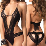 Hot Black Lace Spliced Erotic Lingerie