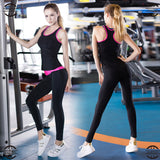 YEL 2 PCS Quick Dry Sport Training Suit Tank Top Fitness Tights Gym Tracksuit Yoga Sets