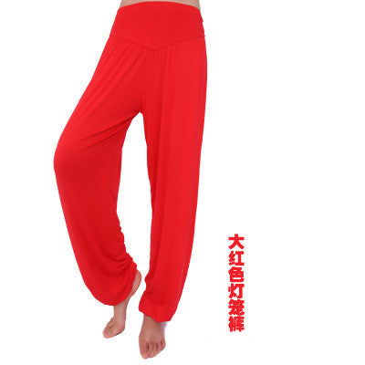 Women casual harem pants high waist dance pants