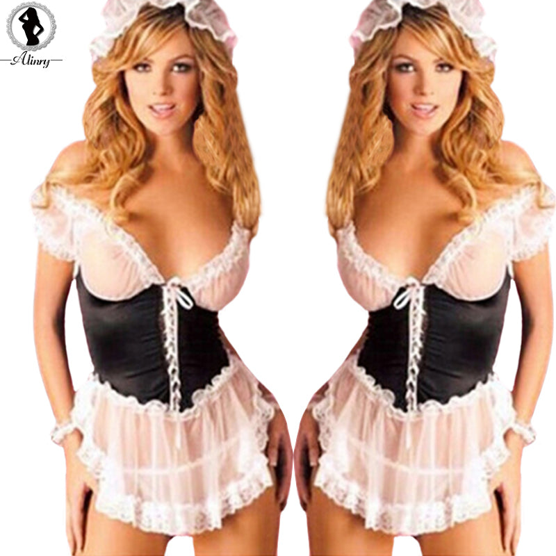 Sexy France Style Maid Uniform -  Plus Size SM Cosplay Sexy Costumes