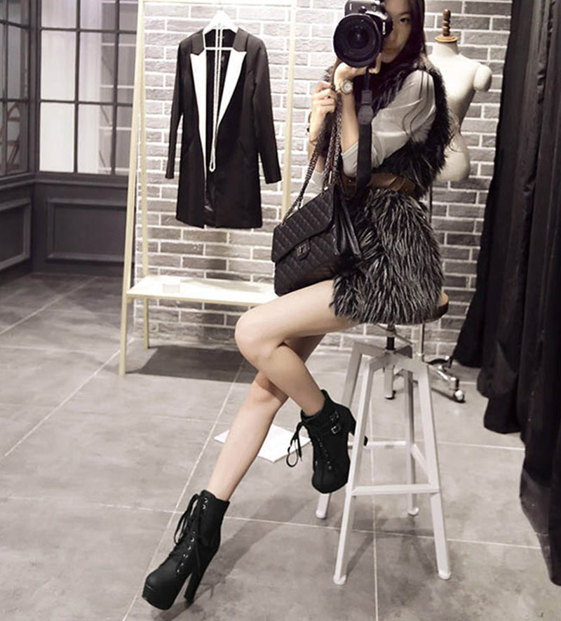 High Heel Ankle Short  Boots