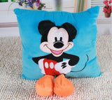 3D Mickey Mouse and Minnie Mouse Plush Pillow