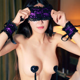 Exotic Apparel Hot Lace Mask Blindfolded Patch + Lace Handcuffs