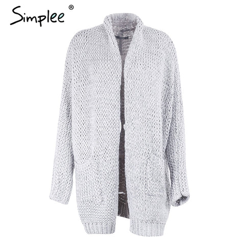 Casual Knitted Long Loose Kimono Sweater