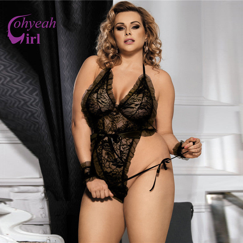 Backless Lace Lingerie - Plus Size Sexy Babydoll