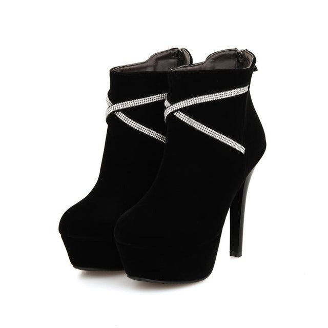 Thin High Heels Fashion Ankle Boots