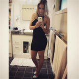 Fashion Sexy Women Basic Dresses Sleeveless Slim Vestidos Bodycon Clothing High Neck Solid Color For Party Dress