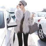 Warm Faux Fur Fox Elegant Coat
