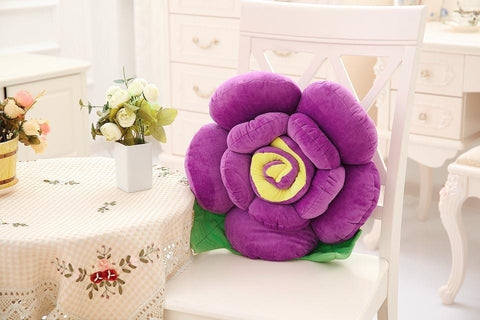 Cotton 3D Rose Pillow Cushion With Filling Stuffed Toy Funny Plush Bolster Christmas Present