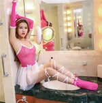 Exotic Lingerie cosplay costumes dress+ Socks + gloves sets